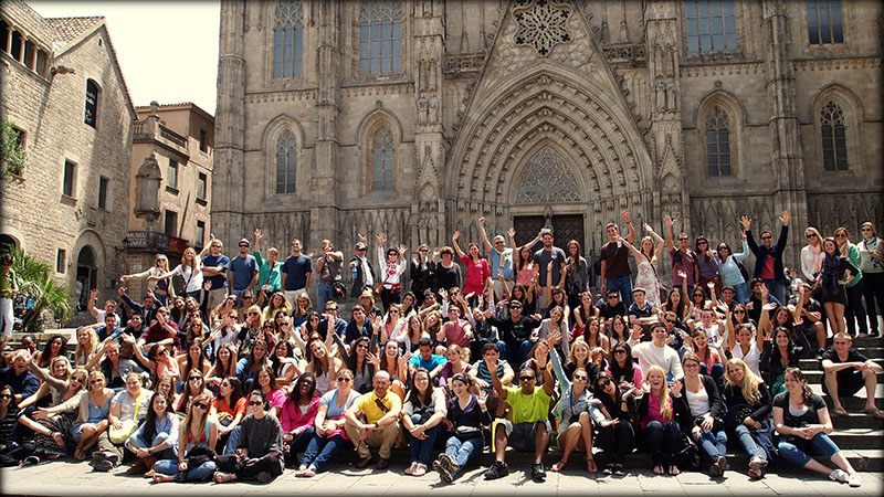 Barcelona Cathedral Group visit of the cathedral during the Barcelona Trip.