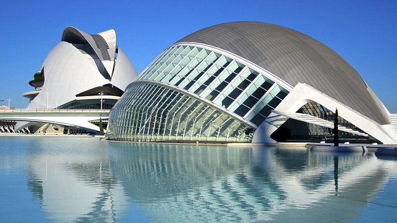 CITY OF ARTS & SCIENCES. View of Valencia's IMAX and Opera.