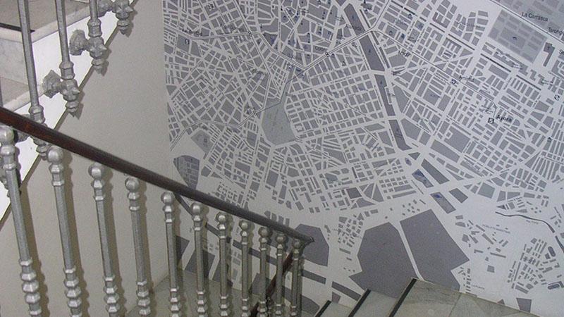 DORM AREA. Access to the dorm area through a historical staircase.