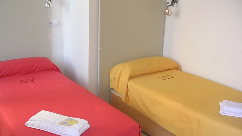 DORM ROOMS. Spacious double and triple rooms.