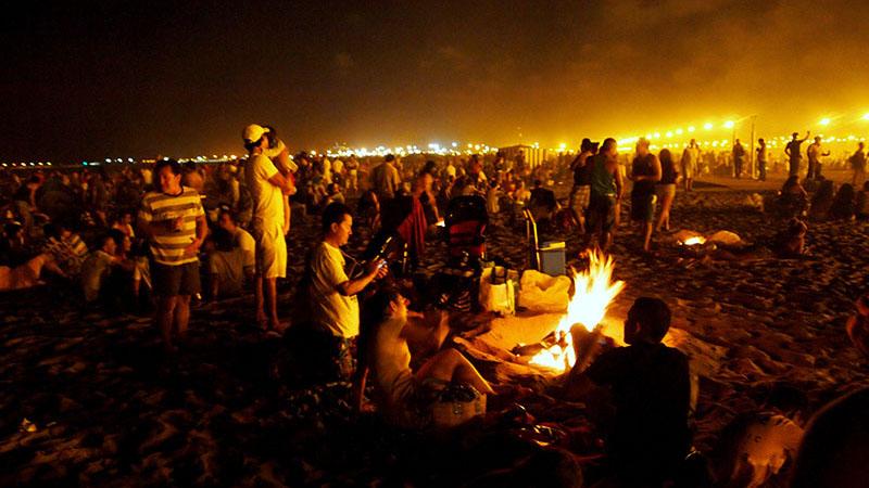 SAN JUAN. San Juan festivity at the Valencia beach.