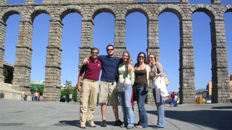 Segovia Visiting the amazing 2000 year old acueduct.