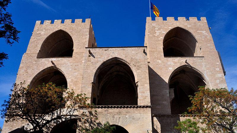 TORRES DE SERRANOS. The old gates to the city.
