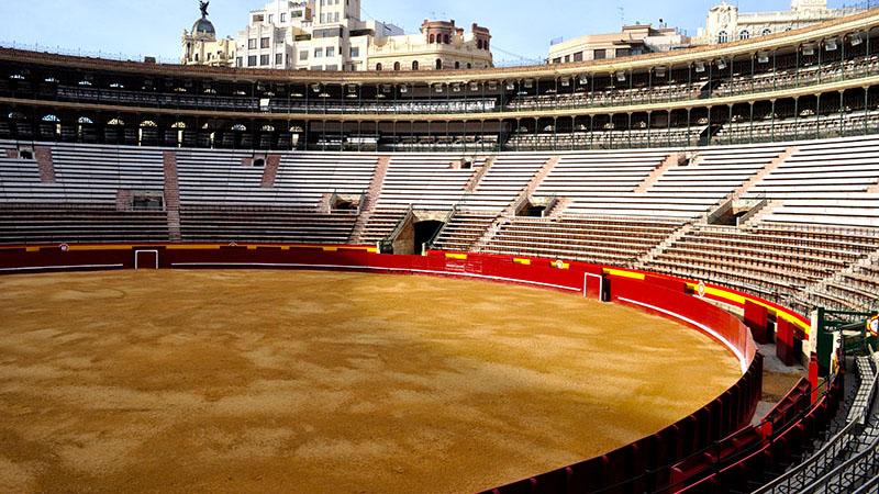 VALENCIA BULLRING. A view of the Valencia bullring.
