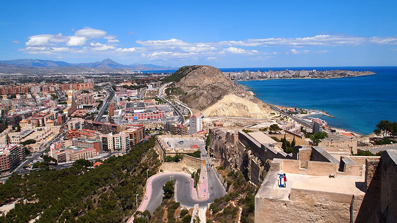 Visiting Alicante's castle as part of the Andalucía Trip.