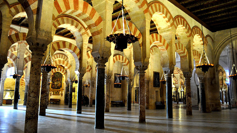Visiting the Córdoba mosque and cathedral during the Andalucía Trip.