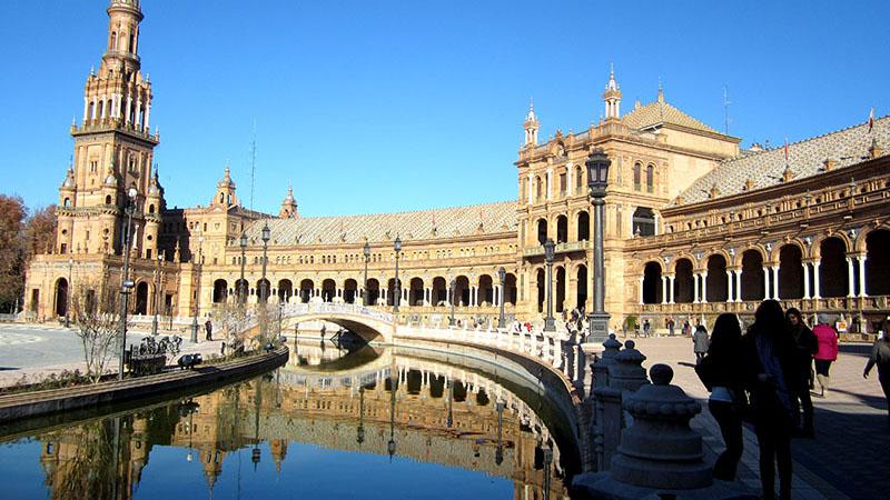 Sevilla Visiting the Plaza de España in Sevilla during the Andalucía Trip.