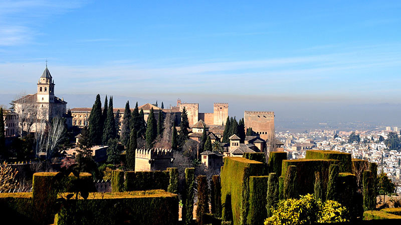 A student's view of the Alhambra during the Andalucía Cultural Trip.